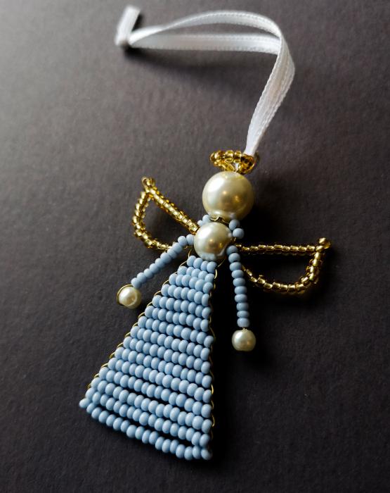 Pearl angel - sky-blue